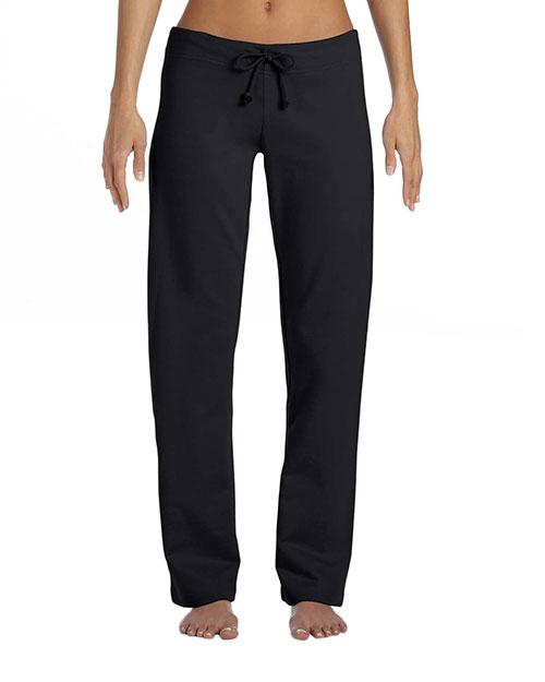 Bella 7017 Women Fleece Straight Leg Sweatpant Black at bigntallapparel