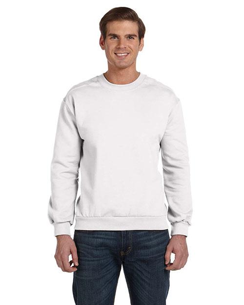 Anvil 71000 Men  Ringspun Crewneck Sweatshirt White at bigntallapparel