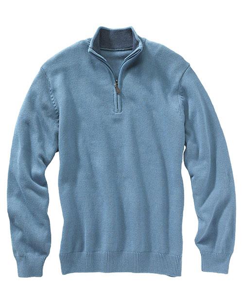 Edwards 712 Women  Quarter Zip Sweater Slate Blue at bigntallapparel