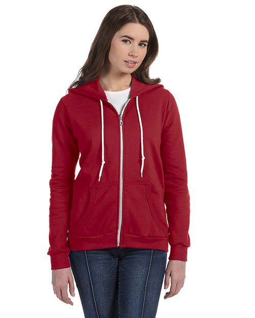 Anvil 71600L Women Ringspun Full-Zip Hooded Sweatshirt Independence Red at bigntallapparel