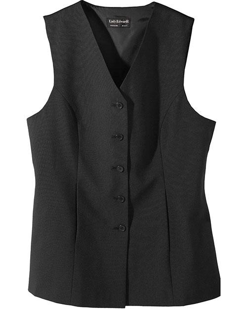 Edwards 7270 Women Tunic Vest Black at bigntallapparel