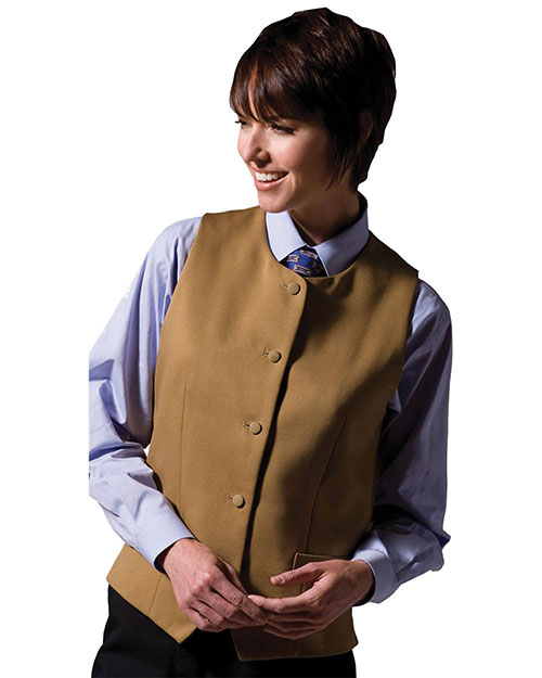 Edwards 7392 Women Bistro Vest Gold at bigntallapparel