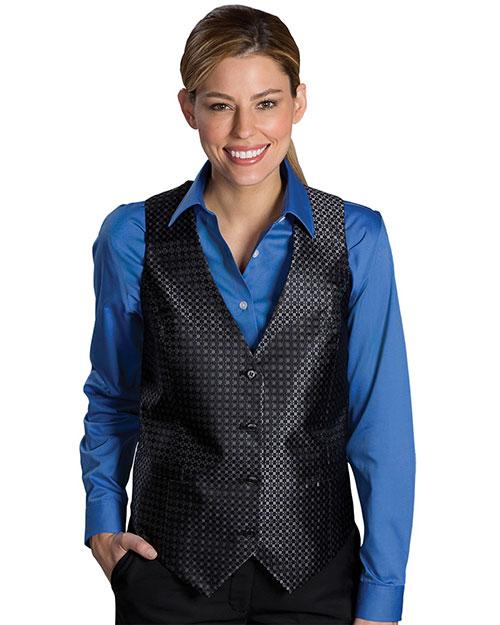 Edwards 7396 Women Grid Vest Black at bigntallapparel