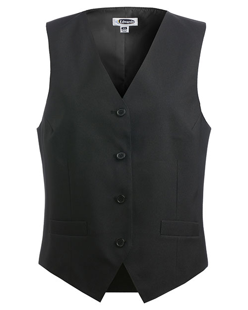 Edwards 7490 Women Economy Vest Black at bigntallapparel