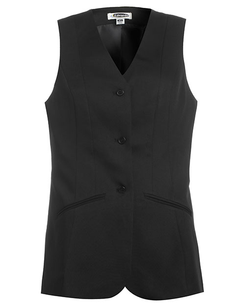 Edwards 7551 Women Tunic Vest Black at bigntallapparel