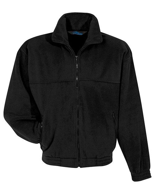 Tri-Mountain 7600 Men Panda Fleece Jacket Black at bigntallapparel