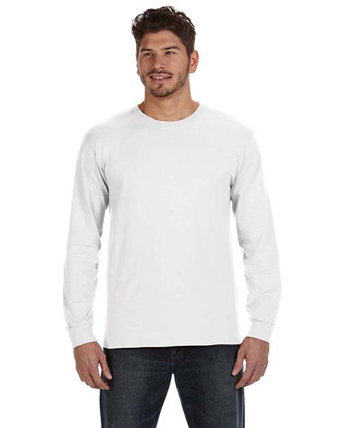 Anvil 784AN Men  Ringspun Heavyweight Long-Sleeve T-Shirt White at bigntallapparel