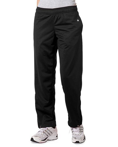 Badger 7911 Women Brushed Tricot Pants Black at bigntallapparel
