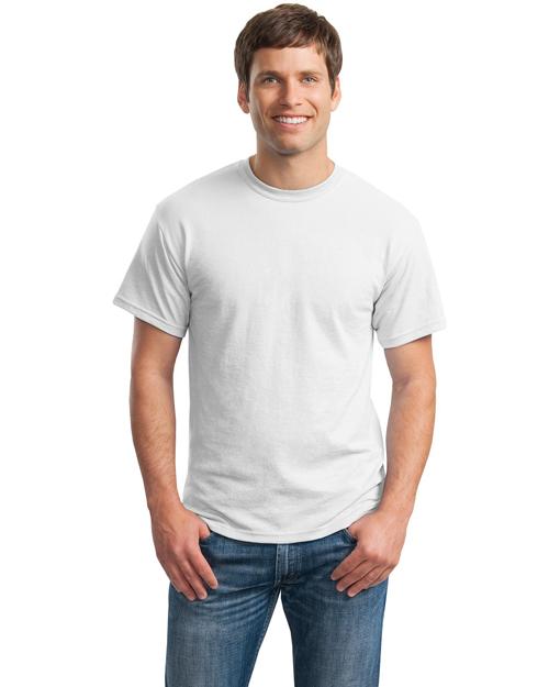 Gildan 8000 Men Ultra Blend    50/50 Cotton/Poly Tshirt White at bigntallapparel