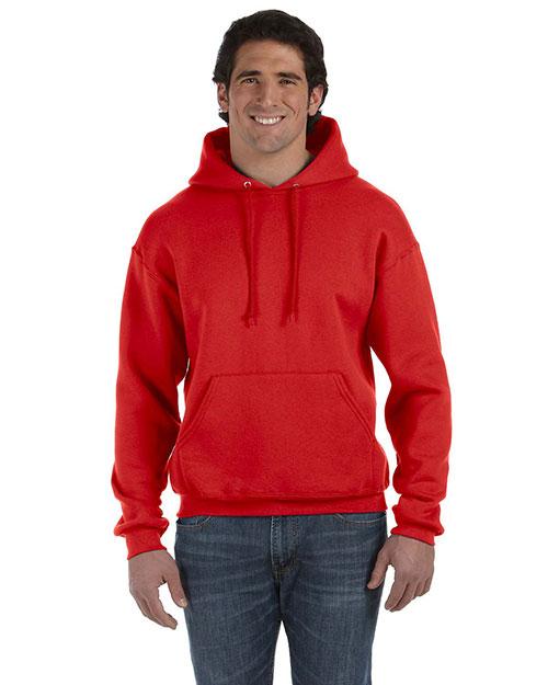 Fruit Of The Loom 82130 Men  12 Oz. Supercotton 70/30 Pullover Hood True Red at bigntallapparel
