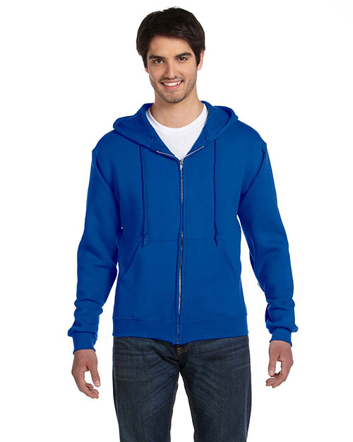 Fruit Of The Loom 82230 Men  12 Oz. Supercotton 70/30 Full-Zip Hood Royal at bigntallapparel