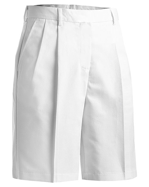 Edwards 8419 Women Business Casual Pleate Short 9/9.5 Inchesinseam White at bigntallapparel