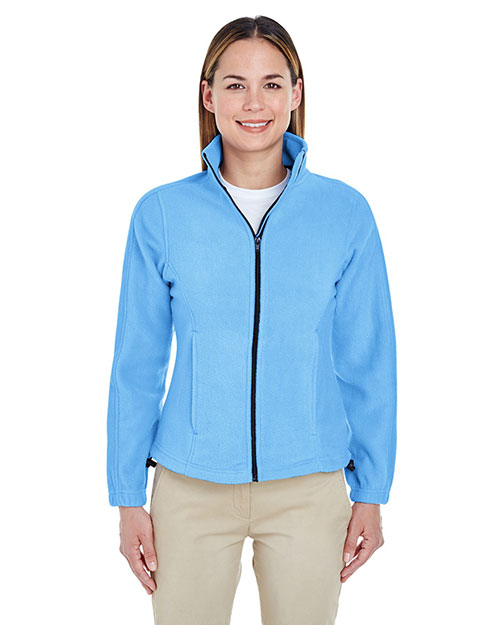 Ultraclub 8481 Women Iceberg Fleece Fullzip Jacket Carolina Blue at bigntallapparel