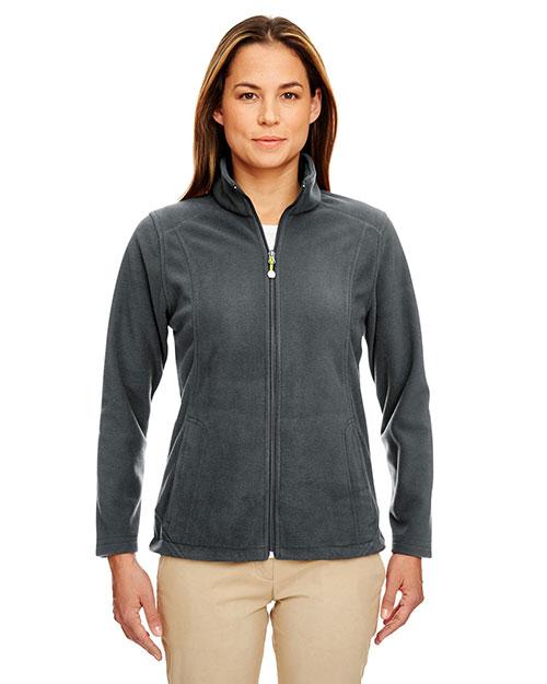 Ultraclub 8498 Women Micro Fleece Fullzip Jacket Charcoal at bigntallapparel