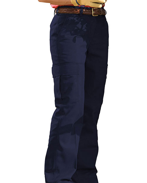 Edwards 8573 Women Blended Chino Cargo Pant Navy at bigntallapparel