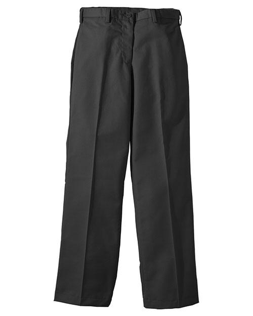 Edwards 8576 Women Easy Fit Chino Flat Front Pant Black at bigntallapparel
