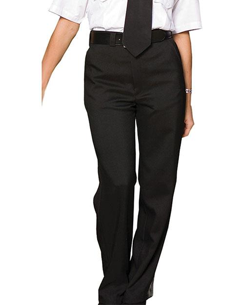 Edwards 8591 Women Flat Front Security Pant Black at bigntallapparel