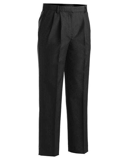 Edwards 8629 Women Washable Wool Blend Pleated Pant Black at bigntallapparel
