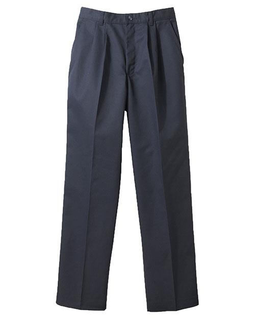 Edwards 8679 Women Blended Chino Pleate Pant Navy at bigntallapparel