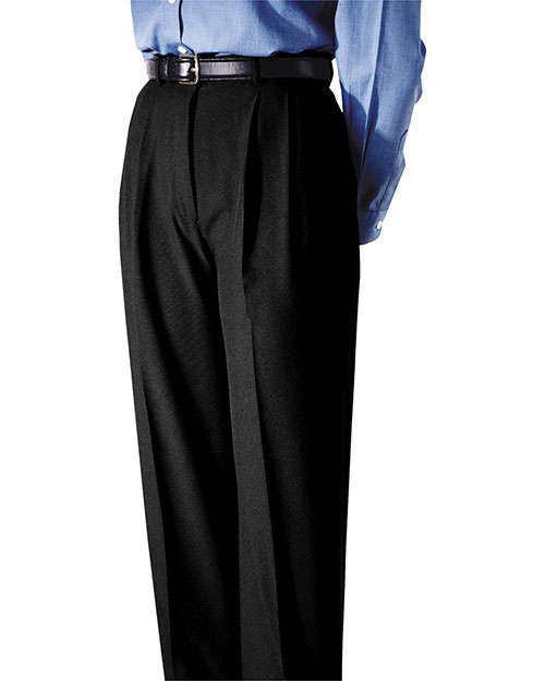 Edwards 8691 Women Polyester Pleated Pant Black at bigntallapparel