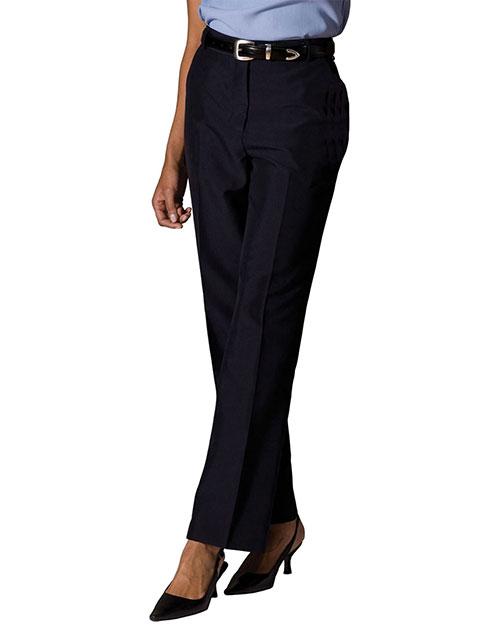 Edwards 8759 Women Lightweight Wool Blend Flat Front Pant Navy at bigntallapparel
