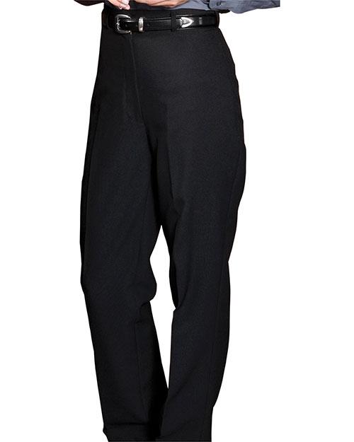 Edwards 8796 Women Polyester Casino Flat Front Pant No Pocket Black at bigntallapparel
