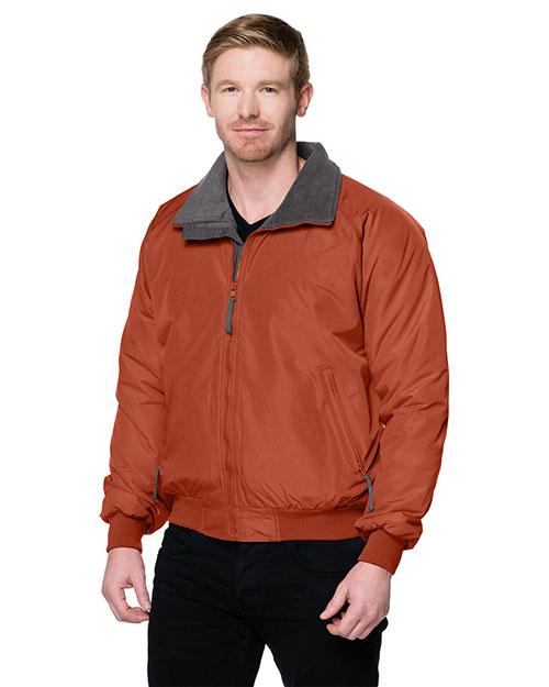 Tri-Mountain 8800 Men Nylon 3 Season Jacket With Fleece Lining Clay/Midnight Charcoal at bigntallapparel