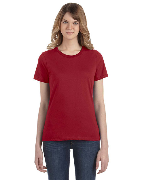 Anvil 880 Women Fashion Fit Ringspun T-Shirt Independence Red at bigntallapparel