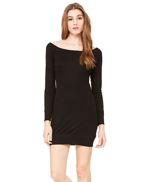 Bella 8822 Women Lightweight Sweater Dress Black at bigntallapparel