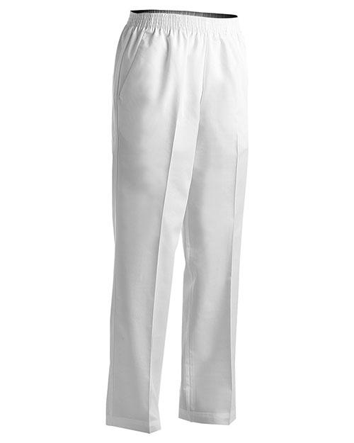 Edwards 8886 Women Poly/Cotton Pull-On-Pant White at bigntallapparel