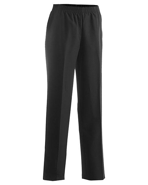 Edwards 8888 Women Solid Pull-On-Pant Black at bigntallapparel