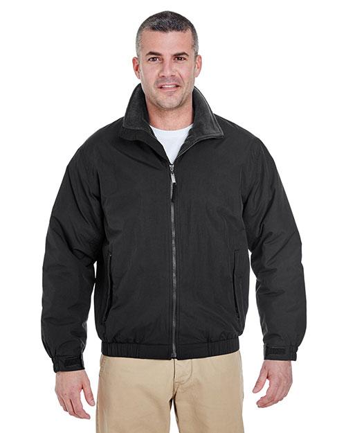 Ultraclub 8921 Men Adventure Allweather Jacket Black/ Black at bigntallapparel