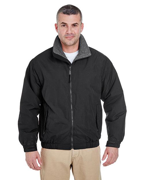 Ultraclub 8921 Men Adventure Allweather Jacket Black/ Charcoal at bigntallapparel