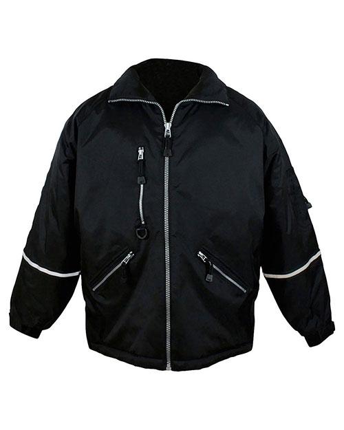 Tri-Mountain 8930 Men Nylon Jacket With Reflective Tape Black at bigntallapparel
