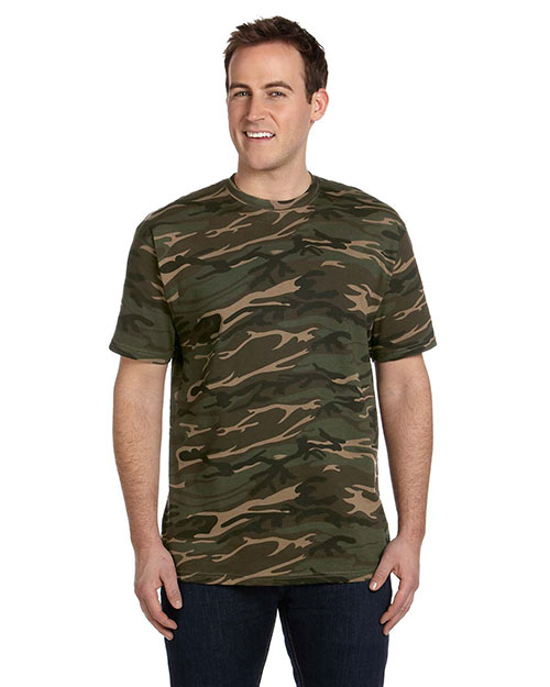 Anvil 939 Men 4.9 Oz., 100% Ringspun Cotton Camouflage T-Shirt Camouflage Green at bigntallapparel