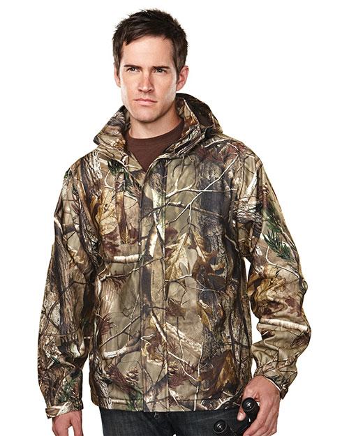 Tri-Mountain 9486C Men 100% Polyester Camo Jacket Real Tree Ap at bigntallapparel