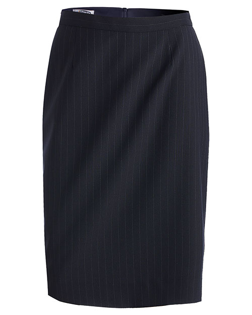 Edwards 9769 Women Pinstripe Skirt Navy at bigntallapparel