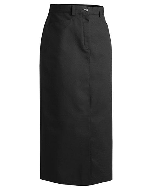 Edwards 9779 Women Chino Skirt  Long 35 Black at bigntallapparel