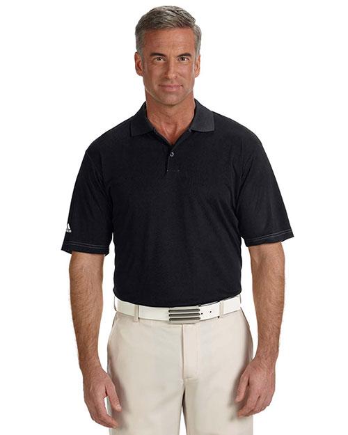Adidas A114 Men Climalite Contrast Stitch Polo Black at bigntallapparel