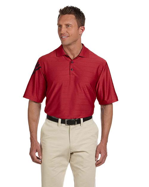 Adidas A133 Men Climacool Mesh Polo University Red/Black at bigntallapparel