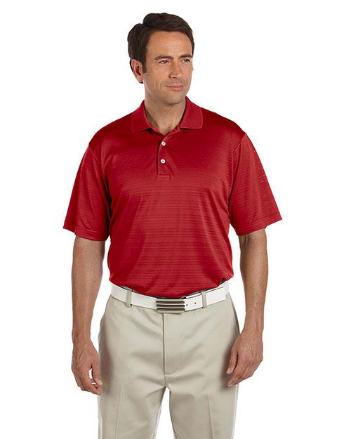 Adidas A161 Men Climalite Textured Short-Sleeve Polo University Red at bigntallapparel