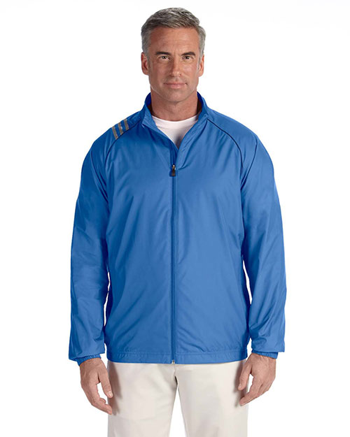 Adidas A169 Men 3-Stripes Full-Zip Jacket Gulf at bigntallapparel