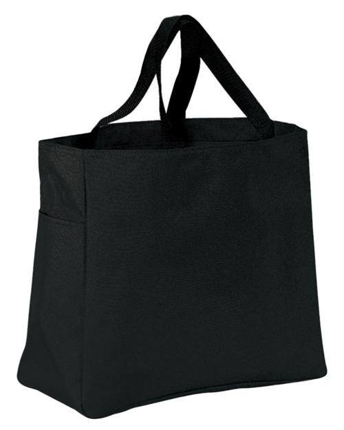 Port & Company B0750  Essential Tote Black at bigntallapparel