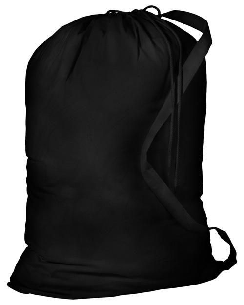 Port & Company B085  Laundry Bag Black at bigntallapparel