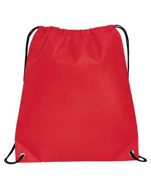 Port & Company B157  Polypropylene Cinch Pack Red at bigntallapparel