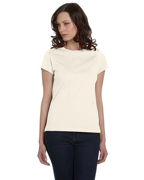 Bella B6020 Women Organic Jersey Short-Sleeve T-Shirt Natural at bigntallapparel