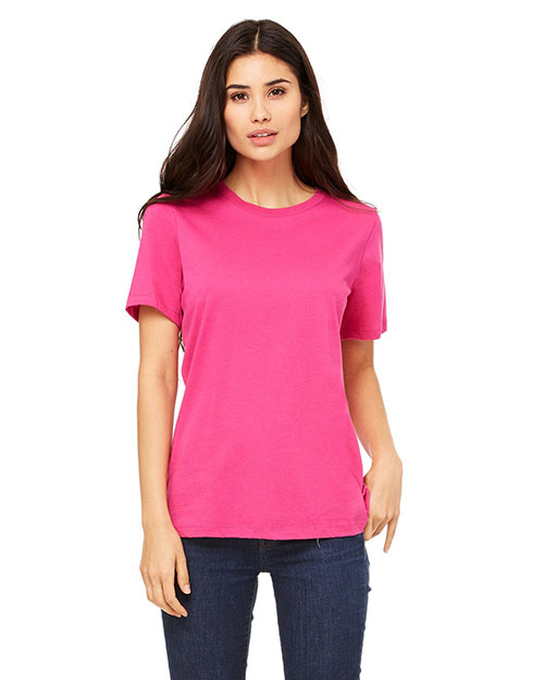 Bella B6400 Women Missy Jersey Short-Sleeve T-Shirt Berry at bigntallapparel