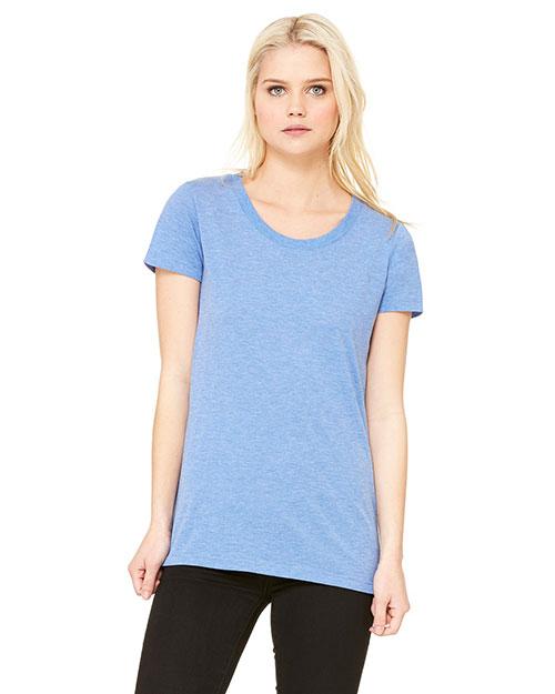 Bella B8413 Women Triblend Short-Sleeve T-Shirt Ath Blue Trblnd New at bigntallapparel