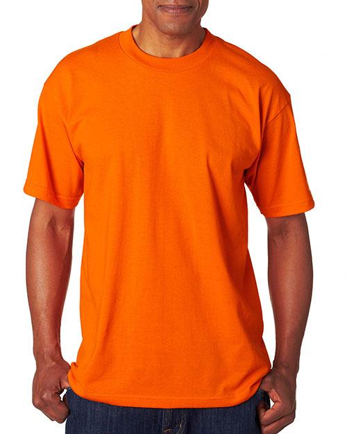 Bayside 1701 Men 50/50 Tee Bright Orange at bigntallapparel