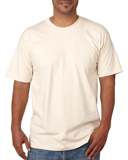 Bayside 5040 Men Shortsleeve Cotton Tee Natural at bigntallapparel